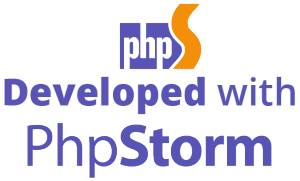 Developed with PhpStorm