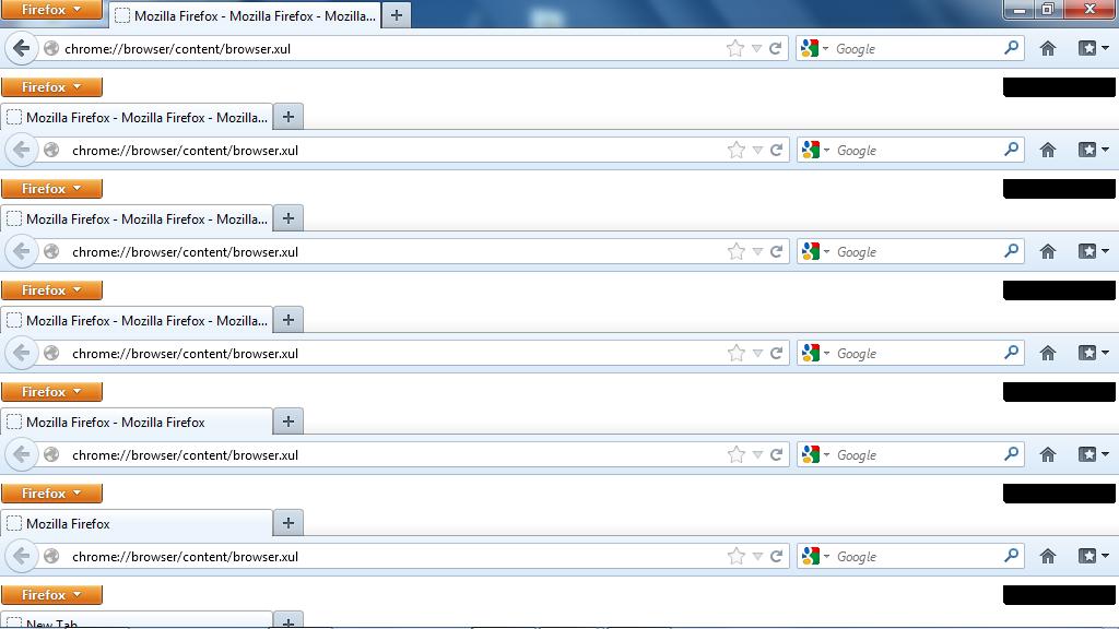 Screenshot showing Firefox inside Firefox inside Firefox inside Firefox inside Firefox inside Firefox inside Firefox