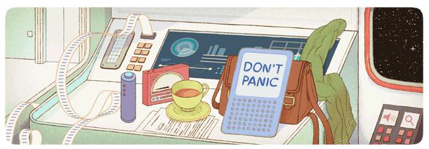 Don't Panic! Google celebrates Douglas Adams' 61st Birthday