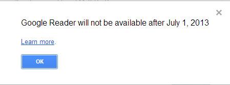 Google Reader is shutting down