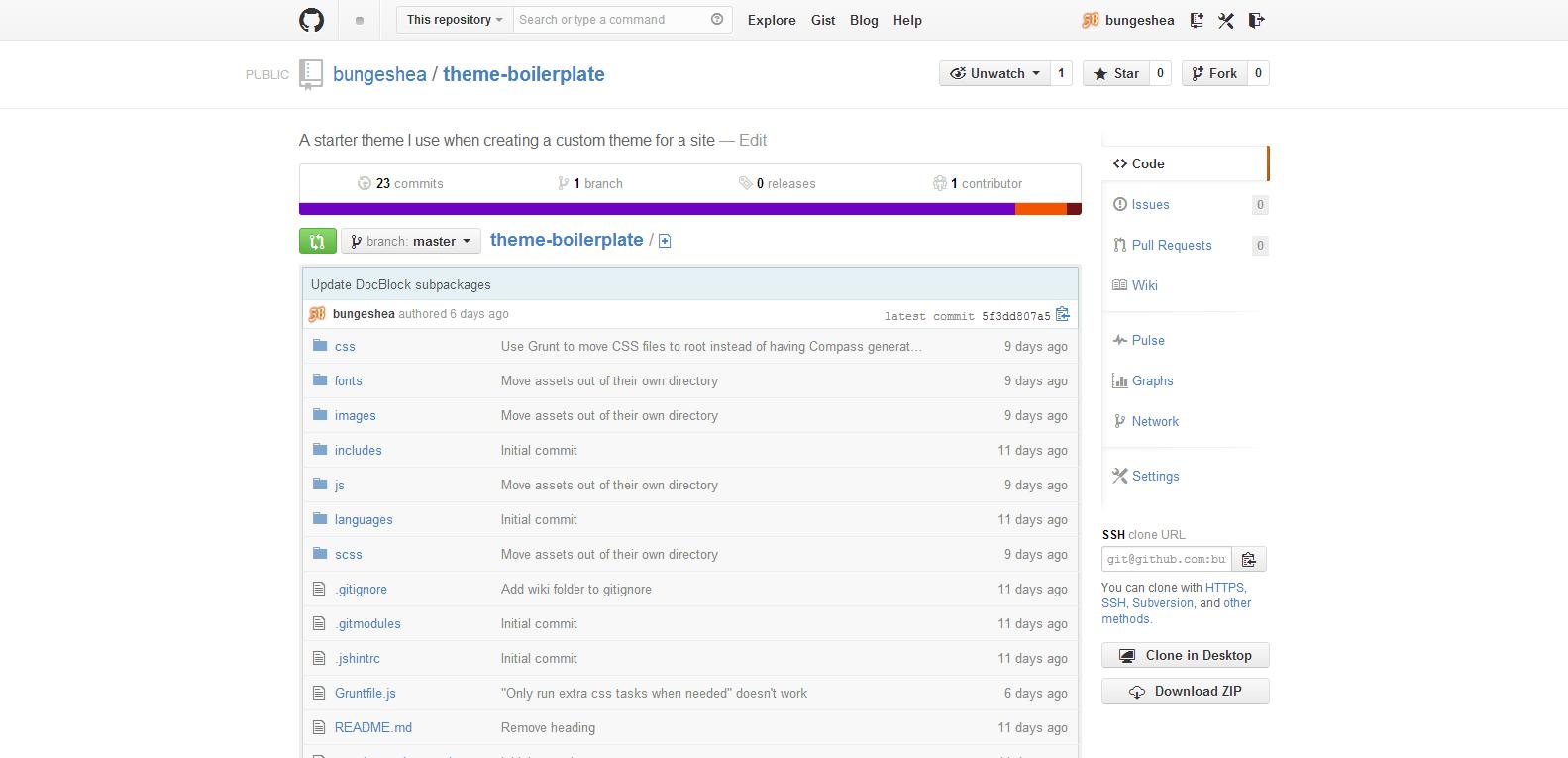 Theme Boilerplate GitHub